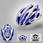 หมวกจักรยาน Giant ทรงสปอร์ต สีน้ำเงินขาวแบบที่2