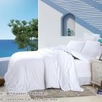 ผ้าปูที่นอน ผ้าเทนเซล tencel สีขาวล้วน