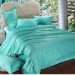 ผ้าปูที่นอน tencel สีมิ้น สีพื้น