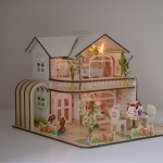 wooden doll house 3D puzzle บ้านใหญ่สวยงาม
