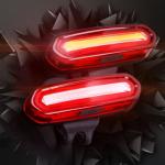 ไฟท้าย ไฟ 2 สี มี Battery ในตัวชาร์ทได้