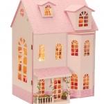DIY fantasy fairy tale cottage chalet villa large .. . บ้านหลังใหญ่ 3 ชั้นสีชมพูสวยงาม