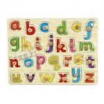จิ๊กซอว์ไม้เรียนรู้ตัวอักษร a - z ตัวพิมพ์เล็ก ...จัดส่งฟรี
