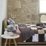 ผ้าปูที่นอน ลายสวย ตารางเส้น โทนสีน้ำตาล