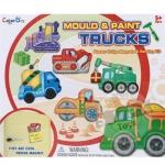 ชุดแม่พิมพ์และสี รูปรถ (Mould & paint Trucks ) ฟรีค่าจัดส่งค่ะ