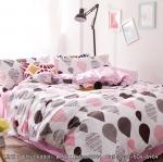 ผ้าปูที่นอน ลายจุดบอลลูน สีชมพู