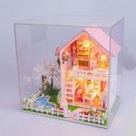 บ้านสีชมพู ตกแต่งสวยงามพร้อมดอกซากุระบาน ริมสระว่ายน้ำ มีเพลงและไฟครบชุด