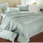 ผ้าปูที่นอน tencel สีเทา สีพื้น