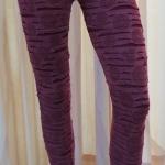 กางเกงเลคกิ้ง 9 ส่วน ผ้านิ่ม สีม่วง (ลายริ้วๆ)