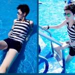 เลือกใช้ชุดว่ายน้ำคนอ้วนเสื้อผ้าเด็กชุดว่ายน้ำทอม ให้เหมาะสม