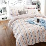ผ้าปูที่นอน ลายเส้น พื้นสีเทาเก๋ๆ