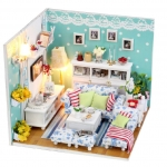 diy hut Dielian passphrase dream house Xiaoge villa model handmade birthday gifts