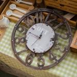 retro wall clock นาฬิกาแขวนผนัง สีเทา