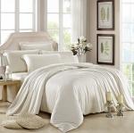 ผ้าปูที่นอน tencel สีพื้น สีครีม