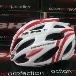 หมวกSH+ shabli s-line สีขาว/แดง