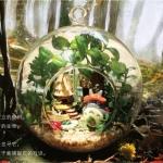 DIY Mini Totoro Hanging Ball.. . โตโตโร่ะ มาในขวดแก้วจะแขวนหรือตั้งโต๊ะก็ได้ค่ะ