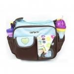 กระเป๋าใส่ของใช้เด็ก สะพายใบเล็ก แบรนด์ carter's ปักลายดอกไม้/หัวใจ มี 2 สี ฟ้า ชมพู