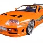 พรีออเดอร์ รถเหล็ก รถโมเดล US Brian's Toyota Supra Fast and Furious สีส้ม 1:24