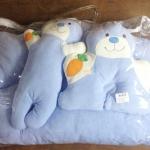 ชุดที่นอนเด็กอ่อน ลายพี่หมี ผ้าขนหนู มี 5 สี ชมพูเข้มสลับครีม ชมพูอ่อน ฟ้าสลับครีม ฟ้าน้ำทะเลสลับครีม และส้มสลับครีม