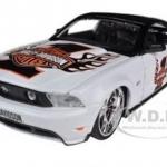 พรีออเดอร์ รถเหล็ก รถโมเดล US 2010 Ford Mustang GT White NO 1 Harley Special Edition maisto สีขาว สเกล 1:24