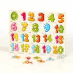จิ๊กซอว์ไม้สอนตัวเลข 1 - 20..พร้อมคำศัพท์