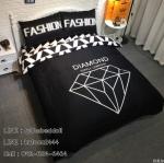 ผ้าปูที่นอน ลายสวย สวย สีดำ-ขาว