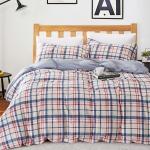 ผ้าปูที่นอน ลายตาราง สก๊อต พื้นสีน้ำเงิน