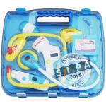 ชุดเครื่องมือหมอบรรจุกระเป๋าพลาสติก สีฟ้า ...จัดส่งฟรี