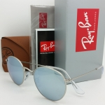 Ray Ban Round Flash RB3447 019/30 Silver mirror