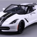 พรีออเดอร์ โมเดลรถ 2014 Corvette Stingray ขาว หายาก 1:24 มี โปรโมชั่น