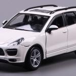 ขาย พรีออเดอร์ โมเดลรถเหล็ก โมเดลรถยนต์ Porsche Cayenne ขาว 1:24 มีโปรโมชั่น