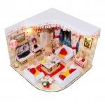 wooden doll house 3D puzzle ห้องนั่งเล่น