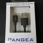 PANGEA Android Cable USB A to Micro B ยาว 6นิ้ว