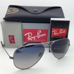Ray Ban Aviator RB3025 004/78 Blue Gradient Polarized Gunmetal
