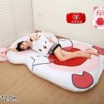 ที่นอนตุ๊กตา ลายการ์ตูนแกะ สีชมพู-ขาว
