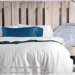 ผ้าปูที่นอน คอตตอนทอซาติน Cotton satin 100% สีพื้น