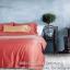 ผ้าปูที่นอน คอตตอนทอซาติน Cotton satin 100% สีพื้น thumbnail 1