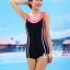 ชุดว่ายน้ำ Sporty Girl B01 Pink thumbnail 3