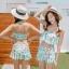 ชุดว่ายน้ำ บิกินี่ ชุดว่ายน้ําเอวสูง ลายผีเสื้อ สีกรม thumbnail 7
