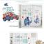 ผ้าม่าน ลายการ์ตูนช้างน้อย สีน้ำเงิน-ขาว thumbnail 4