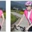 เสื้อปั่นจักรยานแขนสั้นผู้หญิง SOUKE ชมพู : D2104 thumbnail 2