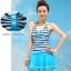 ชุดว่ายน้ำ Sporty Girl D01 Blue thumbnail 3