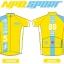 เสื้อปั่นจักรยานแขนสั้น Evo Type LONG LIVE THE KING 2016 : NPD0406 thumbnail 3