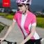 เสื้อปั่นจักรยานแขนสั้นผู้หญิง SOUKE ชมพู : D2104 thumbnail 1