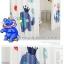 ผ้าม่าน ลายการ์ตูนช้างน้อย สีน้ำเงิน-ขาว thumbnail 6