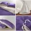 ผ้าปูที่นอน tencel สีม่วง-เทา สีพื้น thumbnail 2