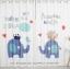 ผ้าม่าน ลายการ์ตูนช้างน้อย สีน้ำเงิน-ขาว thumbnail 1