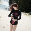 ชุดว่ายน้ำ แขนยาวสีดำ สกรีนลาย thumbnail 1