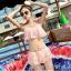 ชุดว่ายน้ำ บิกินี่ ทูพีช แบบลูกไม้ Pink thumbnail 1