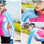 เสื้อปั่นจักรยานแขนยาวผู้หญิง SOUKE สีชมพูฟ้า : CL21011 thumbnail 2